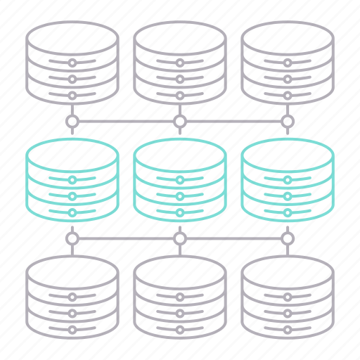 big data, database, server, structure, technology icon