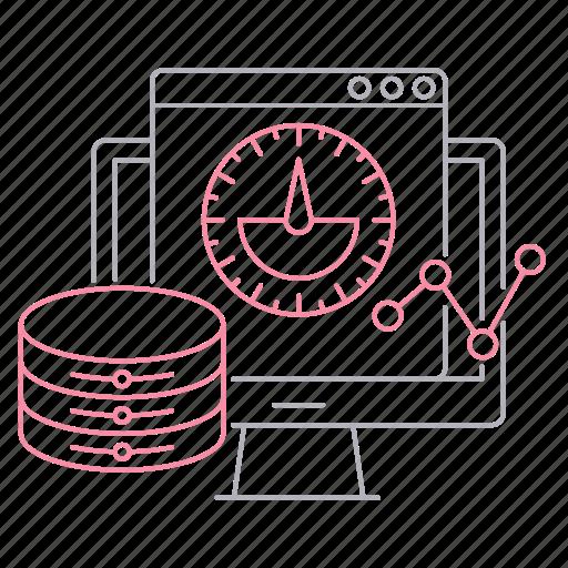big data, database, server, technology, velocity icon