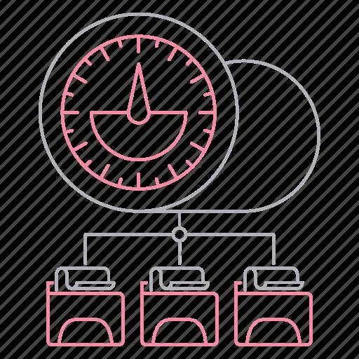 big data, database, performance, server, technology icon