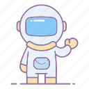 action, astronaut, astronomy, helmet, pilot, science, spaceman icon