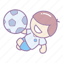 action, ball, football, kick, overhead, player, soccer icon