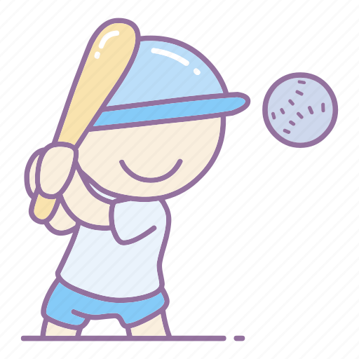 action, ball, baseball, boy, game, olympic, player icon