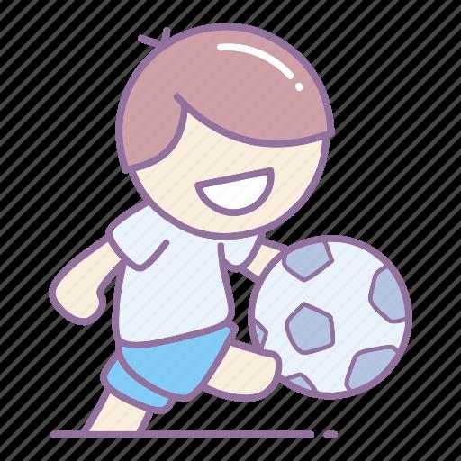 action, ball, football, kick, player, soccer, sport icon