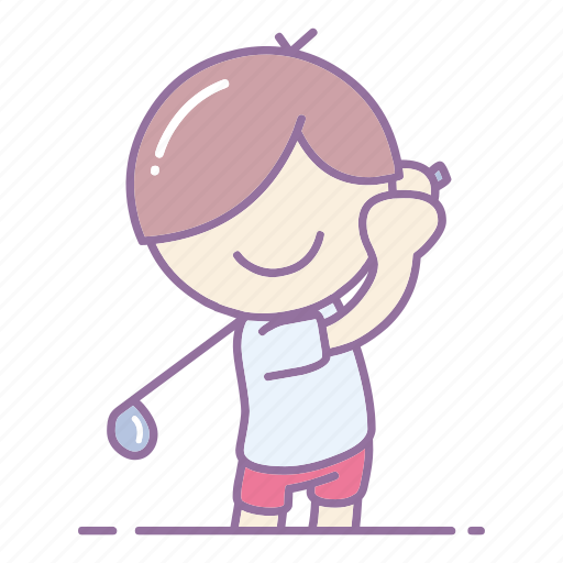action, game, golf, golfer, hobby, sport, swing icon
