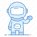 action, astronaut, astronomy, boy, pilot, science, spaceman icon