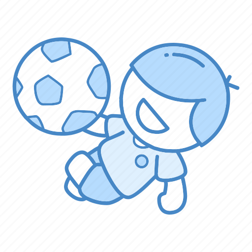 action, ball, football, kick, overhead, soccer, sport icon
