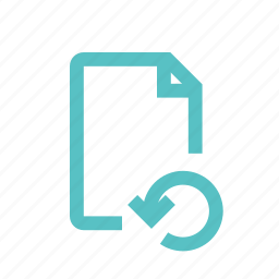 document, download, file, guardar, restore, save, update, upload icon