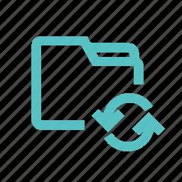 download, exchange, folder, sync, update, upload icon