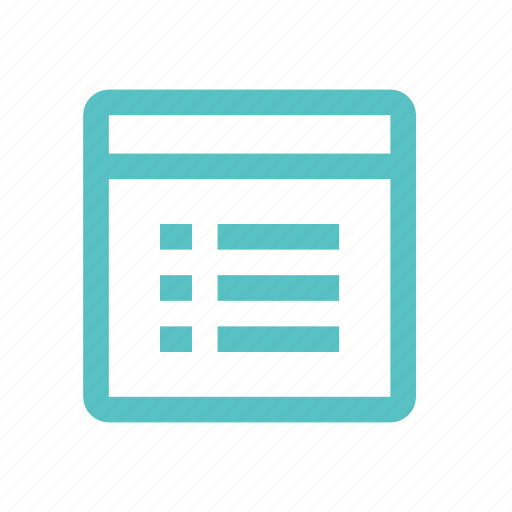 calendar, date, diary, menu, plan, window icon