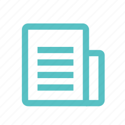 bill, diploma, file, list, newspaper, scroll icon