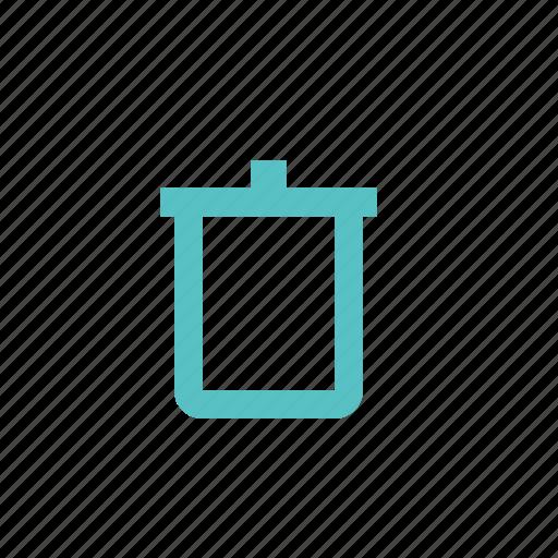 basket, bucket, can, delete, trash icon