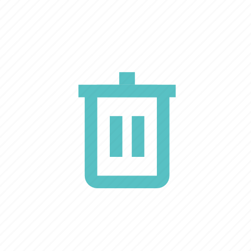basket, bucket, can, delete, trash icon