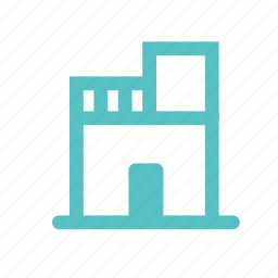 castle, home, hostel, hotel, house, shop icon