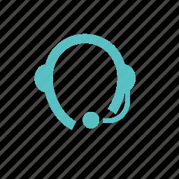 call center, headphones, interactive, music, online, skype, store icon
