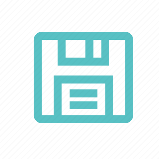 diskette, drive, floppy, memory, save icon