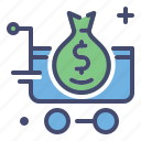 business, cart, discount, fashion, money, sale icon