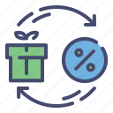 box, discount, gift, sale icon