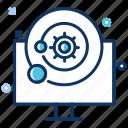 big data, configuration, laptop, preferences, settings icon
