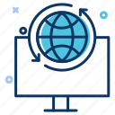 big data, communication, connection, data exchange, data server, internet, laptop icon