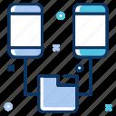 big data, data flow, data management, data server, data transfer, folder, mobile phone icon
