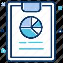 chart, data analytics, exam pad, pie chart, report, statistics icon