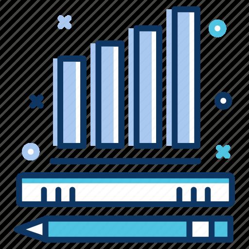 bar chart, community, data analytics, design icon