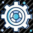 big data, chart, data analytics, preferences, settings icon