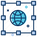 communication, connection, connectivity, data, globe, internet icon