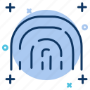 fingerprint, privacy, protection, safety.biometrics, security icon