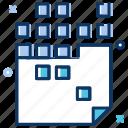 archive, big data, file, file settings, process, raw data icon