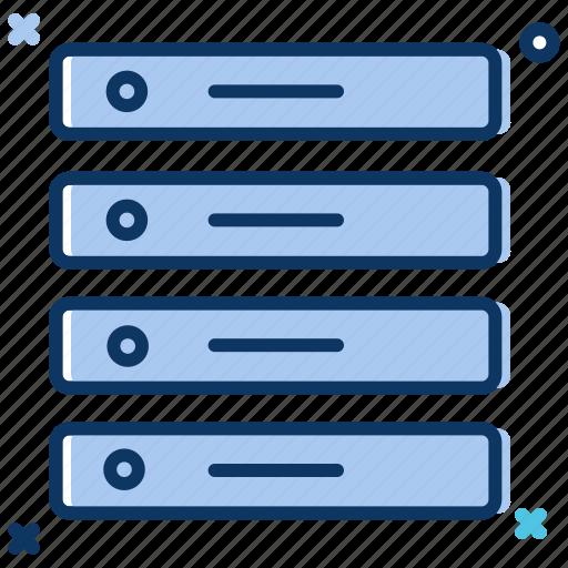bigdata, data server, data storage, database, hosting server, main server icon
