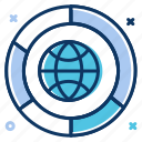 chart, data analytics, global network, network, statistics icon