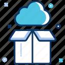big data, bigdata, cloud, data, data server, package, upload icon