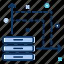 analytics, big data, bigdata, data analytics, data server, data usage, statistics icon