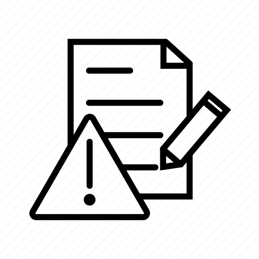 Error Log: Document Error, Error Log, Problem, Report, Warning Icon