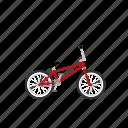 bicycle, bike, bmx, freestyle, isolated, racing icon