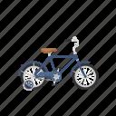 bicycle, bike, isolated, training wheels icon