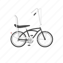 banana seat, beach cruiser, bicycle, bike, cruiser, isolated icon