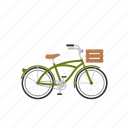 beach cruiser, bicycle, bike, cruiser, isolated icon
