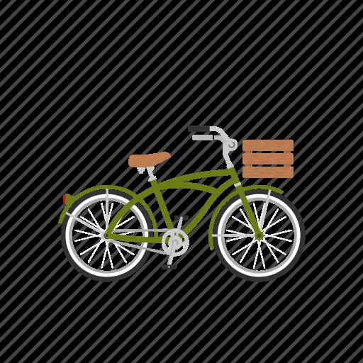 beach cruiser, bicycle, bike, cruiser, isolated icon