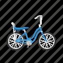 banana seat, bicycle, bike, girl's bike, isolated icon