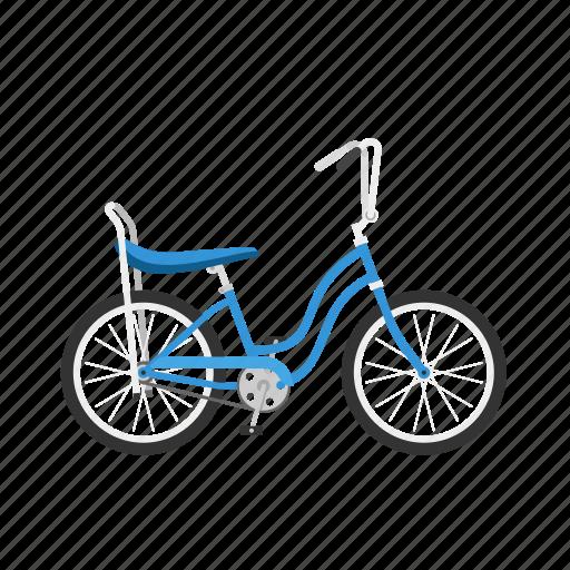 Banana seat, bicycle, bike, girl's bike, isolated icon - Download on Iconfinder