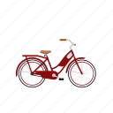 bicycle, bike, cruiser, girl's bike, isolated, women's bike icon