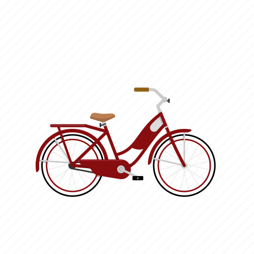 Bicycle, bike, cruiser, girl's bike, isolated, women's bike icon - Download on Iconfinder
