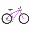 bicycle, bike, isolated, mountain, mountain bike icon