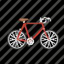 bicycle, bike, isolated, racing bike, ten speed, ten speed bike icon
