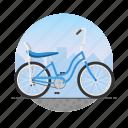banana seat, bicycle, bike, circle, girl's bike