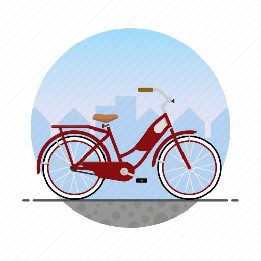 Bicycle, bike, circle, girl's bike, women's bike icon - Download on Iconfinder