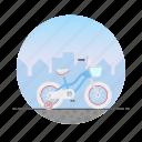 bike, circle, girl's bike, kid's bike, training wheels