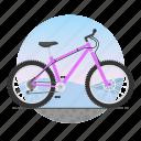 bicycle, bike, circle, mountain bike, offroad bike icon